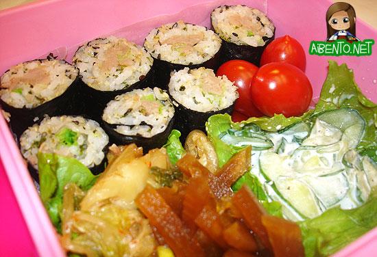 Roast Pork Sushi Bento