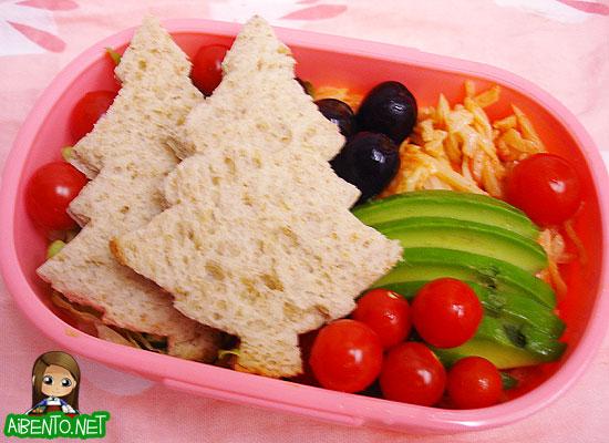 Christmas Sandwich Bento