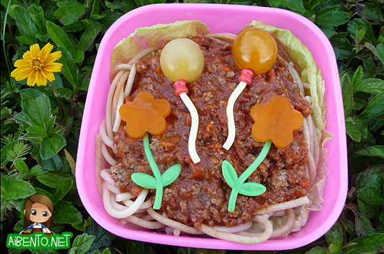 Spaghetti Balloons Bento