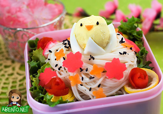 Somen Bird's Nest Bento 1