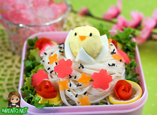 Somen Bird's Nest Bento 2