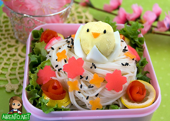 Somen Bird's Nest Bento 3