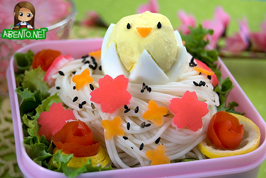 Somen Bird's Nest Bento 4