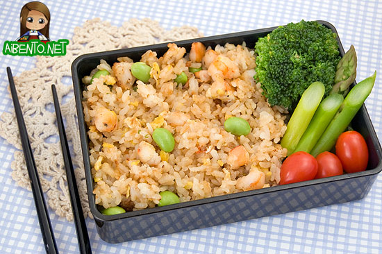 Shrimp Fried Rice Bento