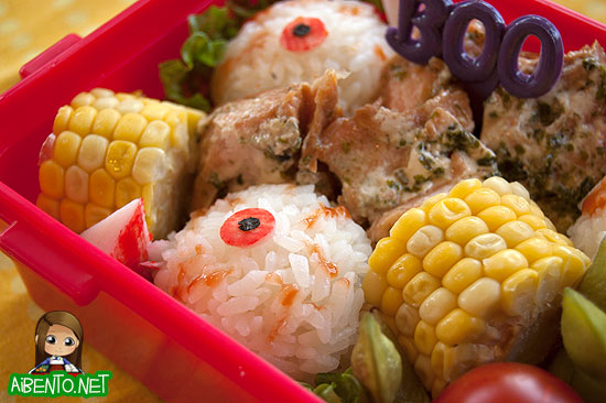 Eyeballs Bento Close up