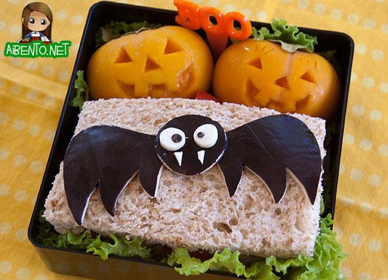 Vampire Bat Sandwich Bento