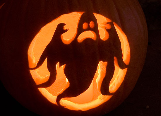 Scary Ghost Pumpkin