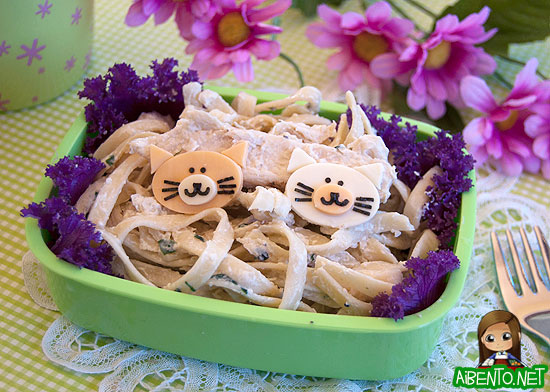 Kitty Cat Fettucine Bento