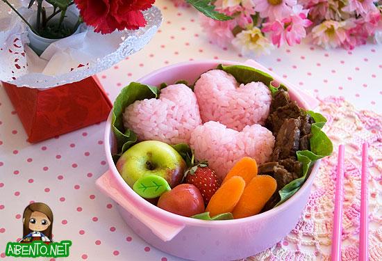 Pink Hearts Bento