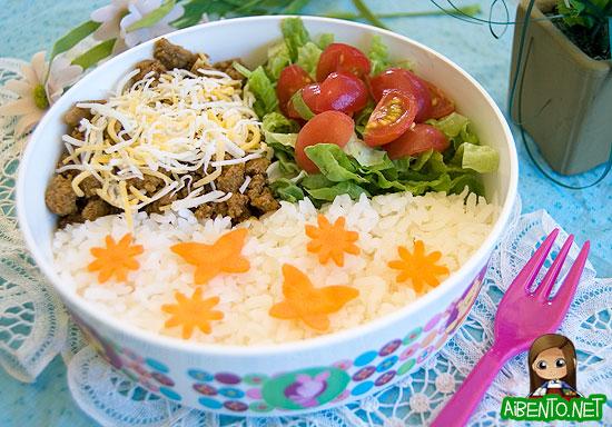 Taco Rice Bento