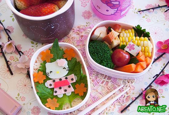 Hello Kitty Kimono Bento