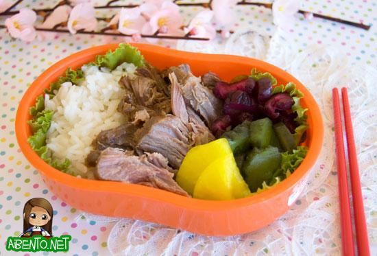 Okinawan Shoyu Pork Bento