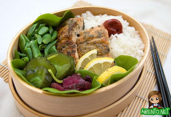 Furikake Salmon Bento