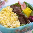 Kalbi with Scrambled Eggs Bento