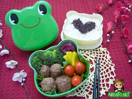 Teriyaki Meatballs Bento