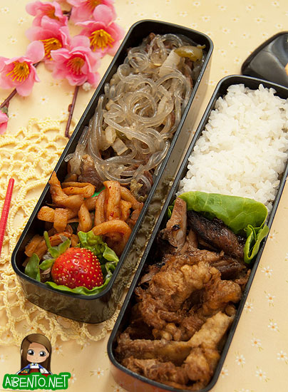 Meat Jun and Chicken Bento