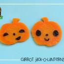 Tutorial: Carrot Jack-O-Lanterns