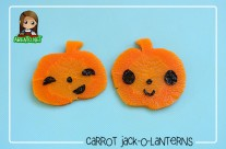 Tutorial: Carrot Jack-O-Lanterns