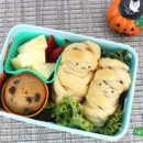 Cute Mummy Hot Dogs Bento
