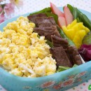 Kalbi with Scrambled Eggs Bento