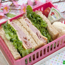 Simple Ham Sammie Bento