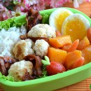 Ham & Cauliflower Bento