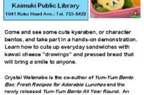 EVENT: Cheese Drawing and Cute Sandwich Tutorial at Kaimuki Public Library