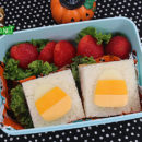 Candy Corn Sammies Bento